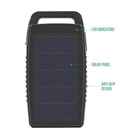شارژر همراه خورشیدی Nekteck (ده هزار میلی آمپر)