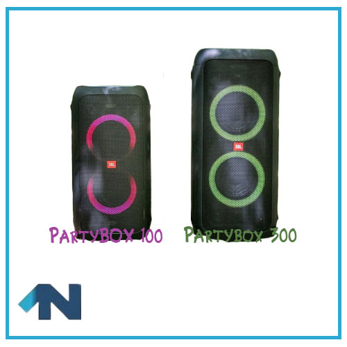 difference between partbox 100 and party box 300