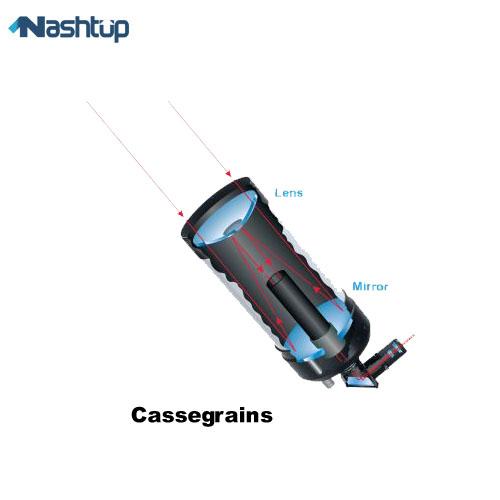 معرفی انواع تلسکوپهای Cassegrain (ترکیبی) در راهنمای خرید تلسکوپ :