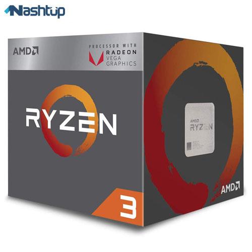 پردازنده ای ام دی مدل Ryzen 3 2200G :